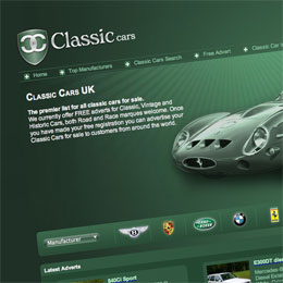 classiccars.co.uk screen shot